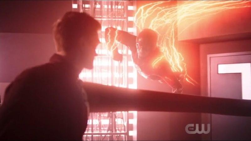 The Flash 4x18 Ralph Vs Barry ||Punch Scene||