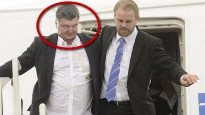 Парашенко в Крыму получил яйцом по голове и пенделя в догонку