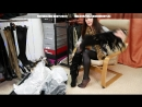 Christina tries on new high-heeled on the platform boots size 37 insta
