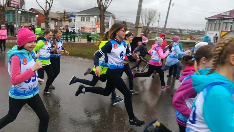 Пробег, 1-й этап - старт, 3 забег, девочки 2006-2008 гр