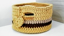 Cesto de Fio de Malha - Cesto de Crochê - Tutorial de Crochê - Crochet Basket - DIY