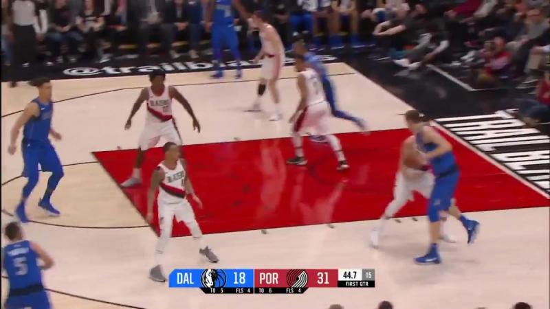 Портленд Трэйл Блэйзерс 117 : 108 Даллас Маверикс. Обзор(Баскетбол.НБА 21.01.2018)