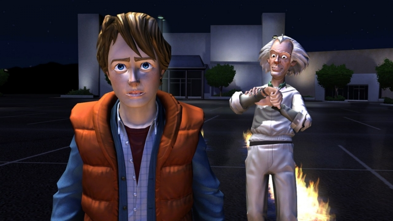 Back to the Future: The Game Назад в Будущее ночная часть 3