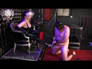 Mistress Nikita - Gag On Gloves Cum On Shoes [2017]