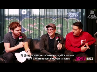 [rus sub] fall out boys patrick and joe talk mania, gaten matarazzo, soul punk  more