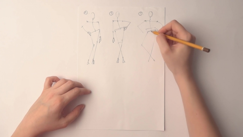 How to draw fashion poses
