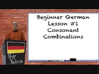 German tongue twister pronunciation practice - beginner german with herr antrim lesson #1.4
