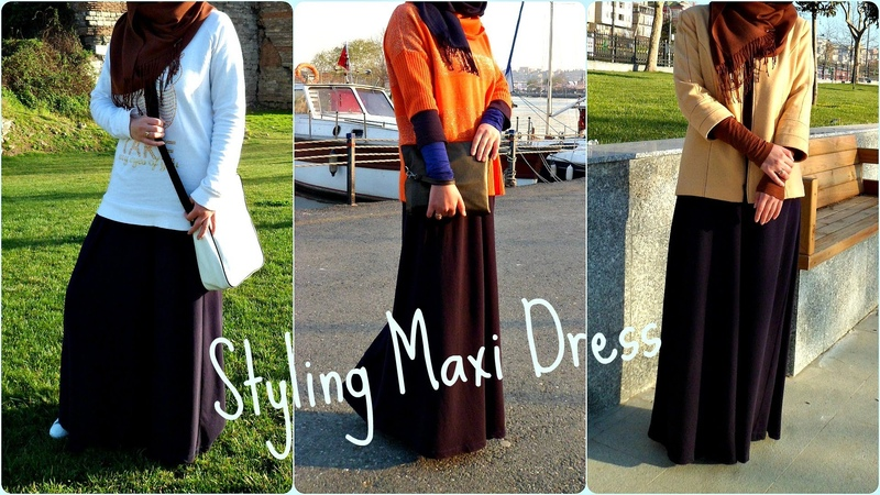 Spring Lookbook Styling Maxi Dress Abaya One Dress Three Looks