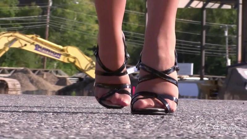 ForeverHeels: Carrie LaChance wears style SANDAL3 High Heel Sandals
