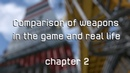 Comparison of weapons in the game and real life. Chapter 2