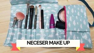 Tutorial como hacer un neceser de maquillaje roll up de viaje