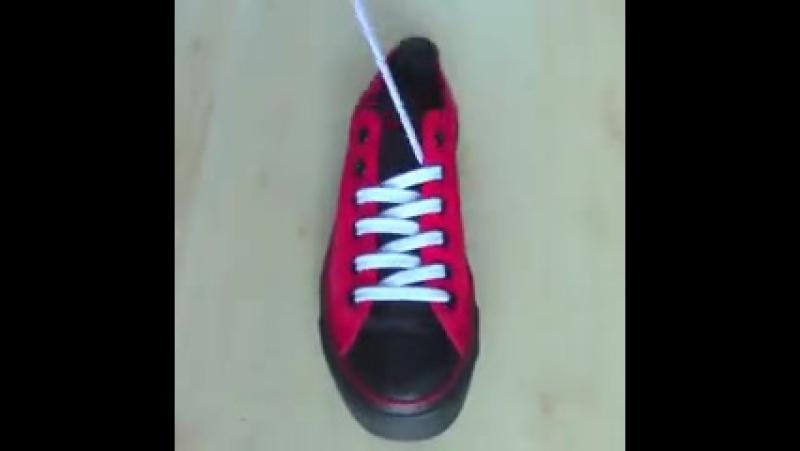 5 крутых способов завязать шнурки