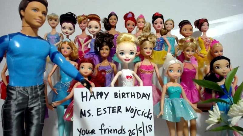 Песня с Днем Рождения Куклы Барби и Принцессы Диснея Мультфильмы ТВ Концерт для мамы Директорши Ютуб Часть 3 из 19
