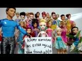 Песня с Днем Рождения! Куклы Барби и Принцессы Диснея Мультфильмы ТВ. Концерт для мамы Директорши Ютуб, Часть 3 из 19