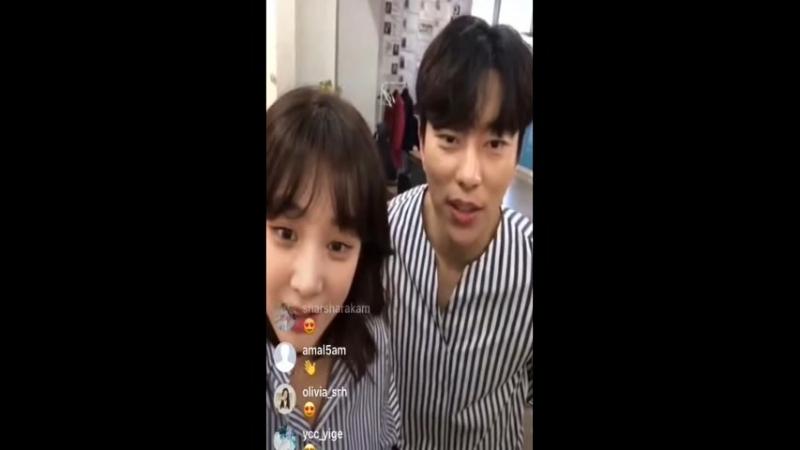 180420 Instagram Live. Юн Хён Мин и Чон Рё Вон