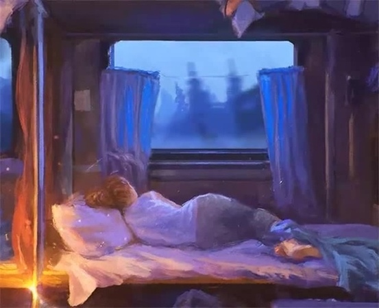 Ночь в вагоне .