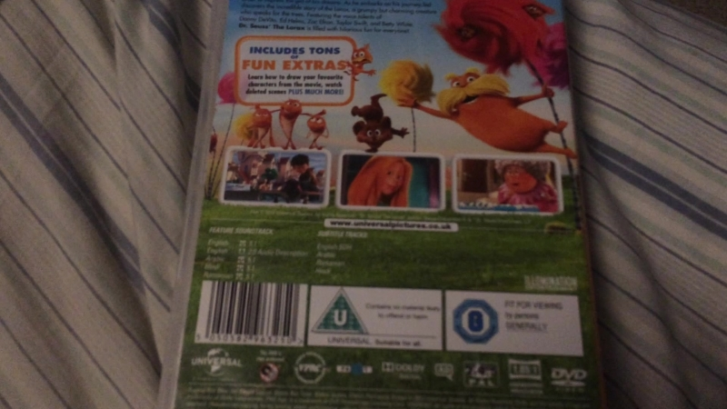 VHS, DVD and Blu-ray Show 16 The Lorax 2012 UK DVD