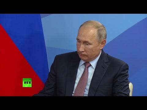 Путин проводит переговоры с лидером КНР Си Цзиньпином
