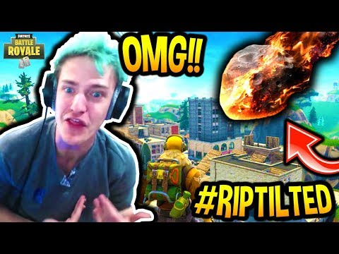 NINJA ANNOUNCES TILTED TOWERS WILL BE DESTROYED BY A METEOR! *PROOF* Fortnite SAVAGE FUNNY Moments