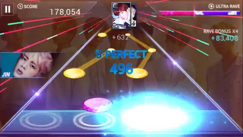 SuperStar BTS - 보조개 - hard - 3 stars