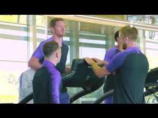 Первая совместная тренировка Тоттенхэма после Чемпионата Мира