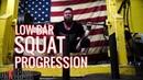 Low Bar Squat Progression with Jordan Shallow