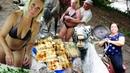 Отдых с друзьями на природе Полевая кухня Катание на лошадях.