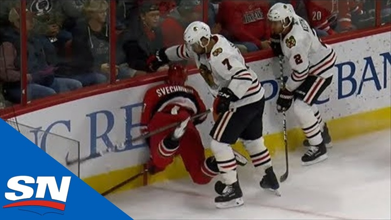 Seabrook Boards Svechnikov, Martinook Makes Him Answer For It