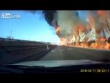Взрыв грузовика с сжиженным газом в Китае