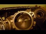 Ремонт фар Mazda 3, тюнинг, ангельские глазки, запотевание.