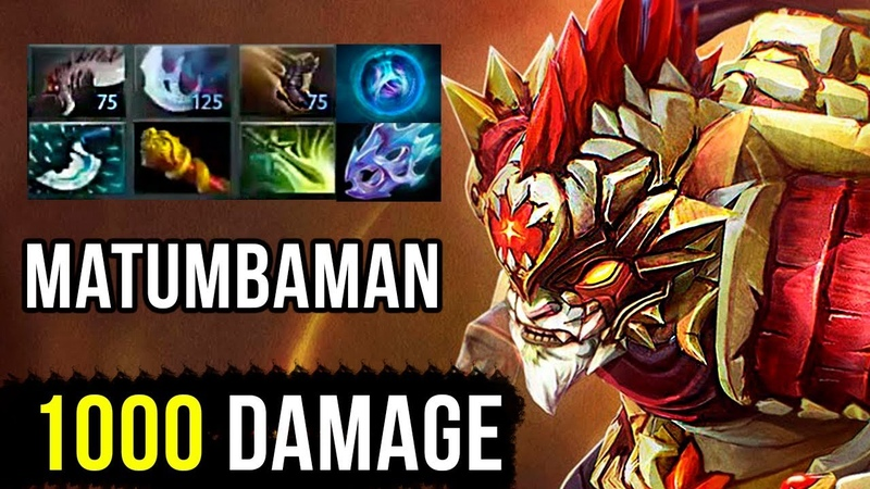 CARRY Bounty Hunter by Liquid Matumbaman 1000 Damage Crit WTF Dota 2 Gameplay