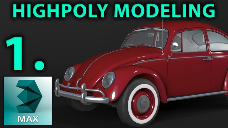 High Poly Car Modeling | Part 1 _ Blueprint _ Start | 3D Tutorial | vw beetle | Hun |