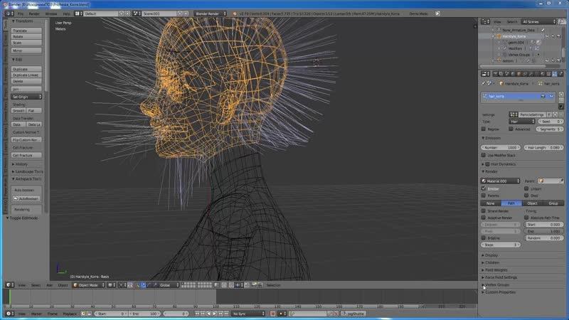 Уроки в 3D редакторе Blender и игры The Sims 4.Причёска Корра.