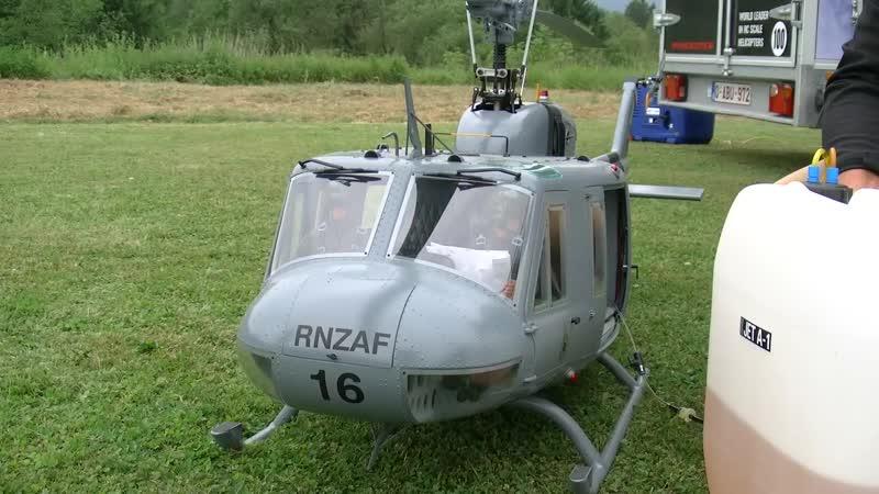 HUGE RC BELL UH-1D HUEY VARIO TURBINE SCALE MODEL HELICOPTER FLIGHT DEMONSTRATION