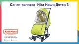 Обзор санок-коляски Nika Наши Детки 3 (НДТ3)
