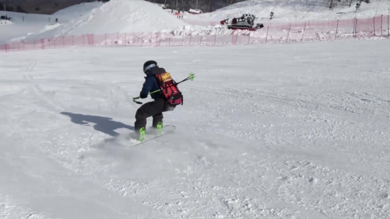 Челлендж сноубордистучитлыжника Красная Поляна