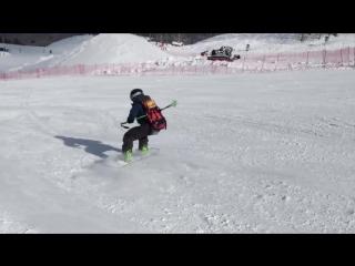 Челлендж #сноубордистучитлыжника Красная Поляна