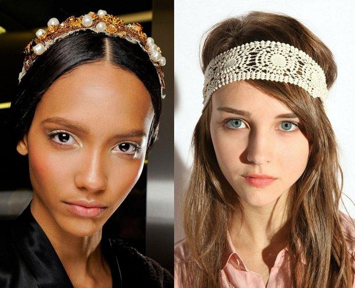 Какие модные ободки на голову в 2018 году фото
