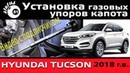 Установка газовых упоров капота Хендай Туссан 2018 Газовые упоры капота Амортизатор капота