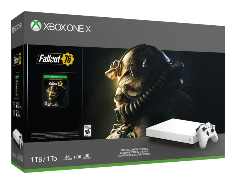 Microsoft анонсировала новый бандл с белой версией Xbox One X и Fallout 76