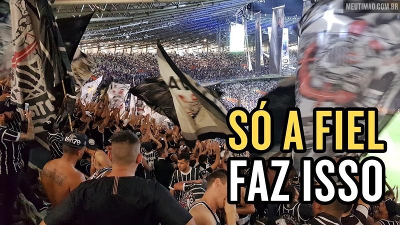 Reação da torcida do Corinthians após o final do jogo no Mineirão