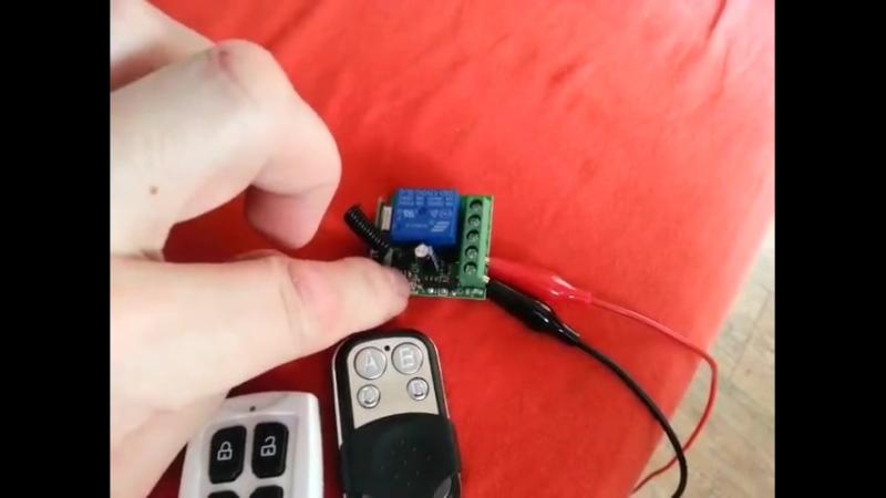 Ошибка при использовании приемника 12V 1CH при помощи несовместимого пульта