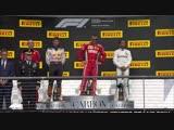 USA 2018: The Ferrari team celebrates Raikkonen's win