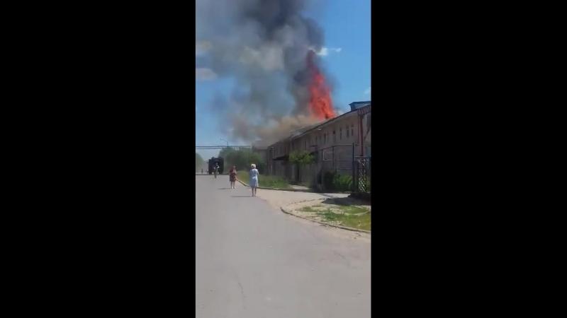 Снова горят общаги в Малоярославце!