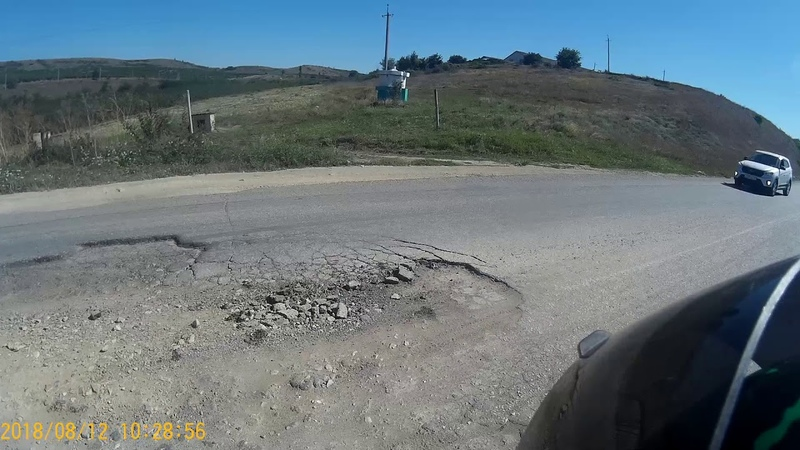 Yamaha XJ600 долина реки Кача, ужасная дорога [часть 1]