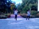 Танец с шашками Дарья Грошева и Алиса Попова