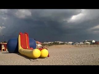 Любимовка. Сняли песчаный ураган вдали
