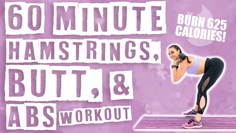60 Minute Butt, Hamstrings, and Abs Workout 🔥Burn 625 Calories! 🔥