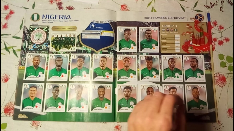 Finished Panini Album WC2018