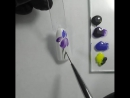 МК Фиолетовый цветок